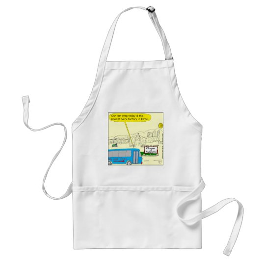 343 Cheeses of nazareth color cartoon Adult Apron