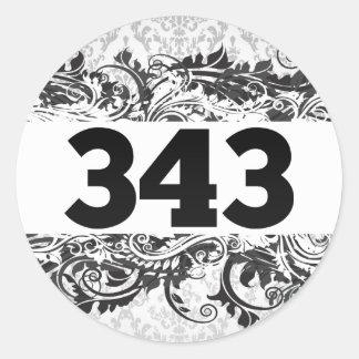 343 PEGATINA REDONDA