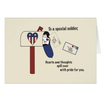 3440 Patriotic Spill with Pride Soldier Greeting Cards