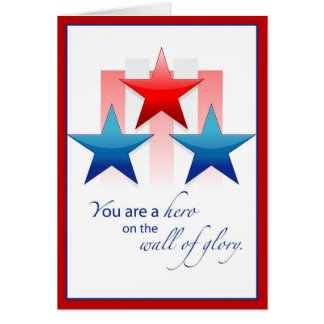3444 Patriotic Wall of Glory Card