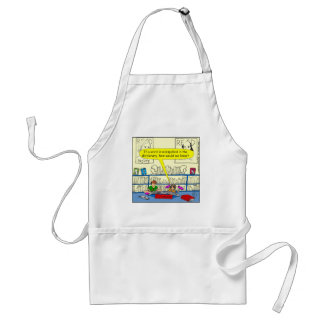 346 Word spelt wrong in dictionary color cartoon Apron