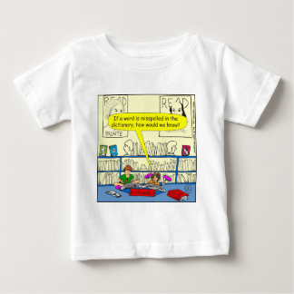 346 Word spelt wrong in dictionary color cartoon Baby T-Shirt