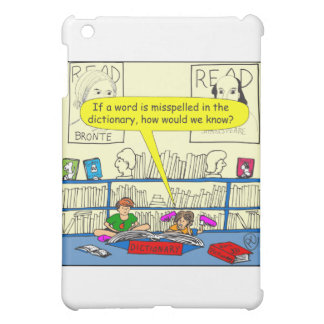 346 Word spelt wrong in dictionary color cartoon Case For The iPad Mini