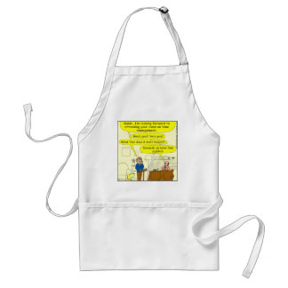 347 Class on time management color cartoon Adult Apron
