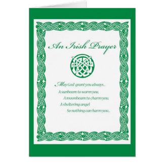 3489 St. Pat's Day IRISH PRAYER Card