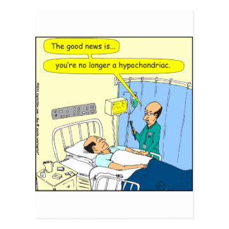 348 No longer a hypochondriac color cartoon Postcard