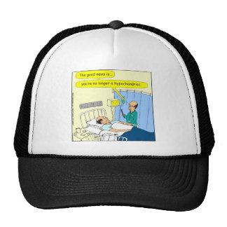 348 no más un dibujo animado hipocondriaco del gorros bordados