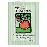 3495 Teacher Thank You, Apple Religious Greeting Card