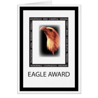3499 virtudes de Eagle Tarjeta De Felicitación