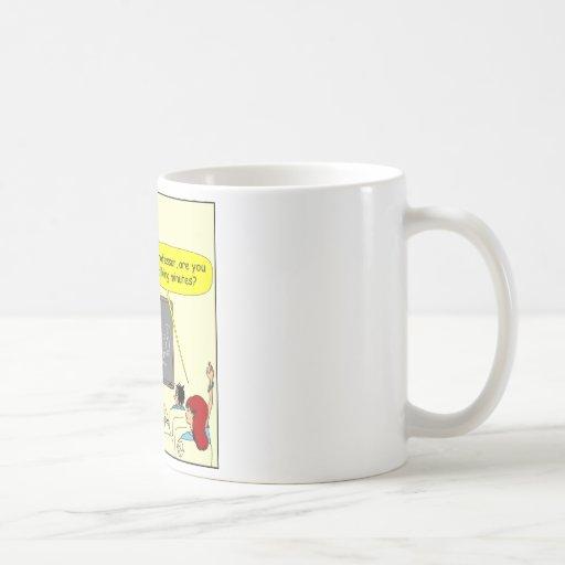 349 está usted dibujo animado del color de los taza de café