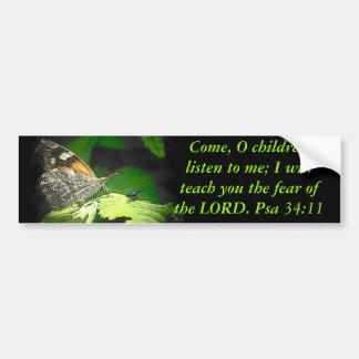 34:11 del Psa la mariposa y el insecto Pegatina Para Auto