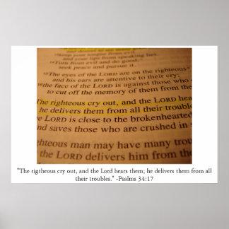 34:17 del salmo impresiones