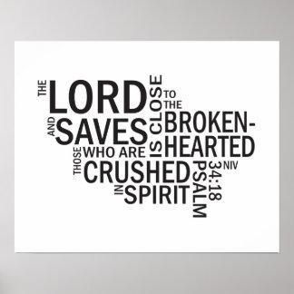 """34:18 del salmo """"el señor es"""" arte cercano del sub posters"""