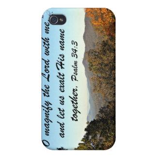34:3 del salmo iPhone 4 carcasas