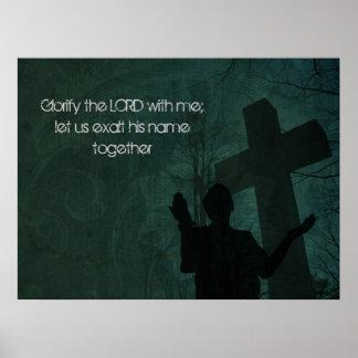 34:3 del salmo posters