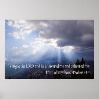 34:4 del salmo posters