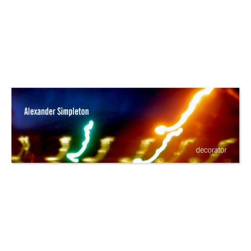 34 Abstract Light Painting Particle Theory Business Card Templates