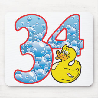 34 Age Duck Mouse Pad