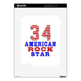 34 American rock star iPad 2 Decal
