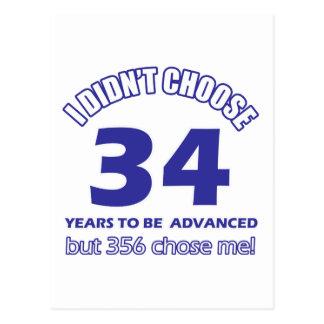 34 años de adelanto tarjetas postales
