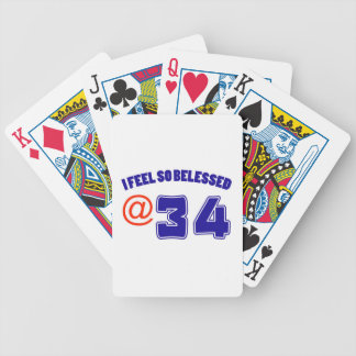 34 Birthday Design Bicycle Playing Cards