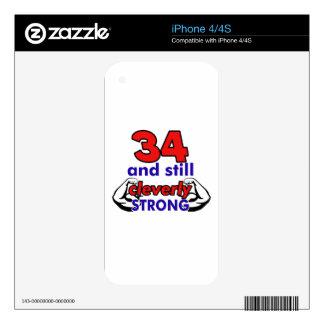 34 birthday design iPhone 4S decals