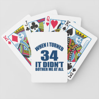 34 Birthday Designs Bicycle Playing Cards