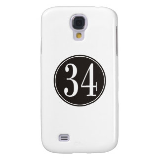 #34 Black Circle Samsung S4 Case