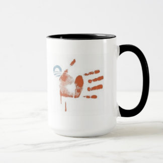 34) Blood Stripes: Flag Print - Ringer Mug