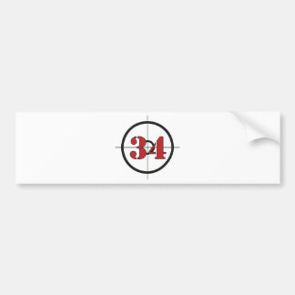 ## 34 ## BUMPER STICKER