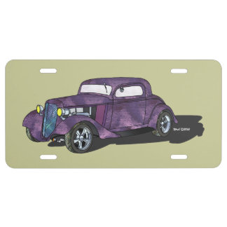 34 Chevy Chopped 3 Window Coupe License Plate