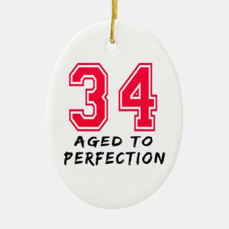 34 envejeció al diseño del cumpleaños de la perfec ornamento para arbol de navidad