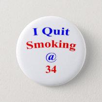 34 I Quit Smoking Button