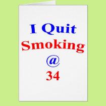 34 I Quit Smoking Card