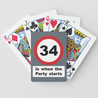 34 is when the Party Starts Bicycle Playing Cards