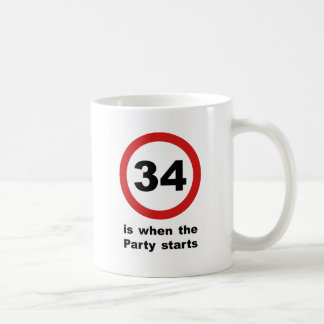 34 is when the Party Starts Coffee Mug