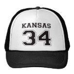 34 Kansas - negro Gorras De Camionero