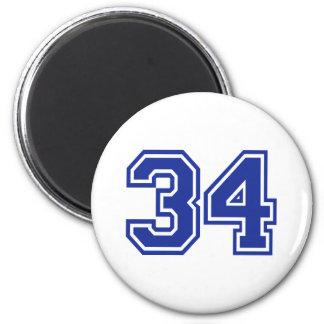 34 - number magnets