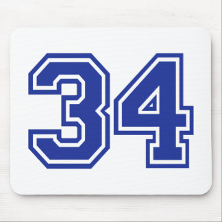 34 - number mouse pad