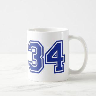 34 - number mug