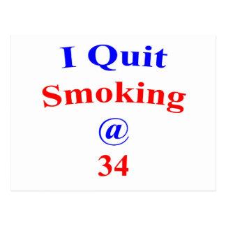 34 que abandoné el fumar tarjetas postales