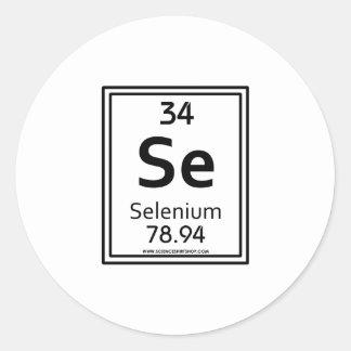 34 Selenium Classic Round Sticker