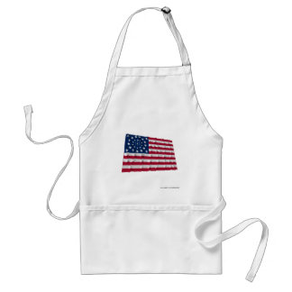 34-star flag, Wreath pattern, outliers Adult Apron