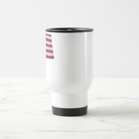 34-star flag, Wreath pattern, outliers Travel Mug