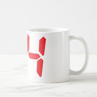 34 thirty-four red alarm clock digital numbr coffee mug