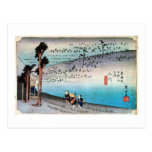 34. Two river inns, Hiroshige Postcard