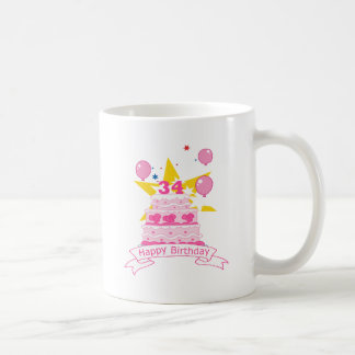 34 Year Old Birthday Cake Coffee Mug