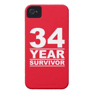 34 year survivor iPhone 4 Case-Mate case