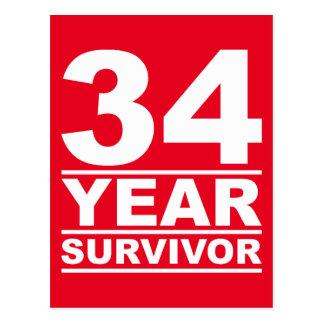 34 year survivor postcard
