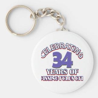 34 years Old birthday designs Key Chain